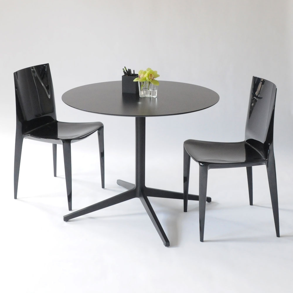 leo round table black