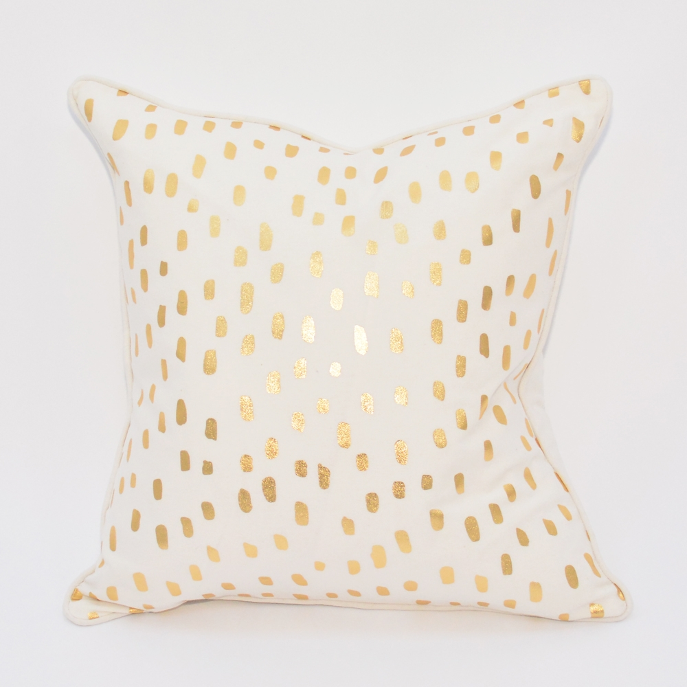 leopard metallic pillow