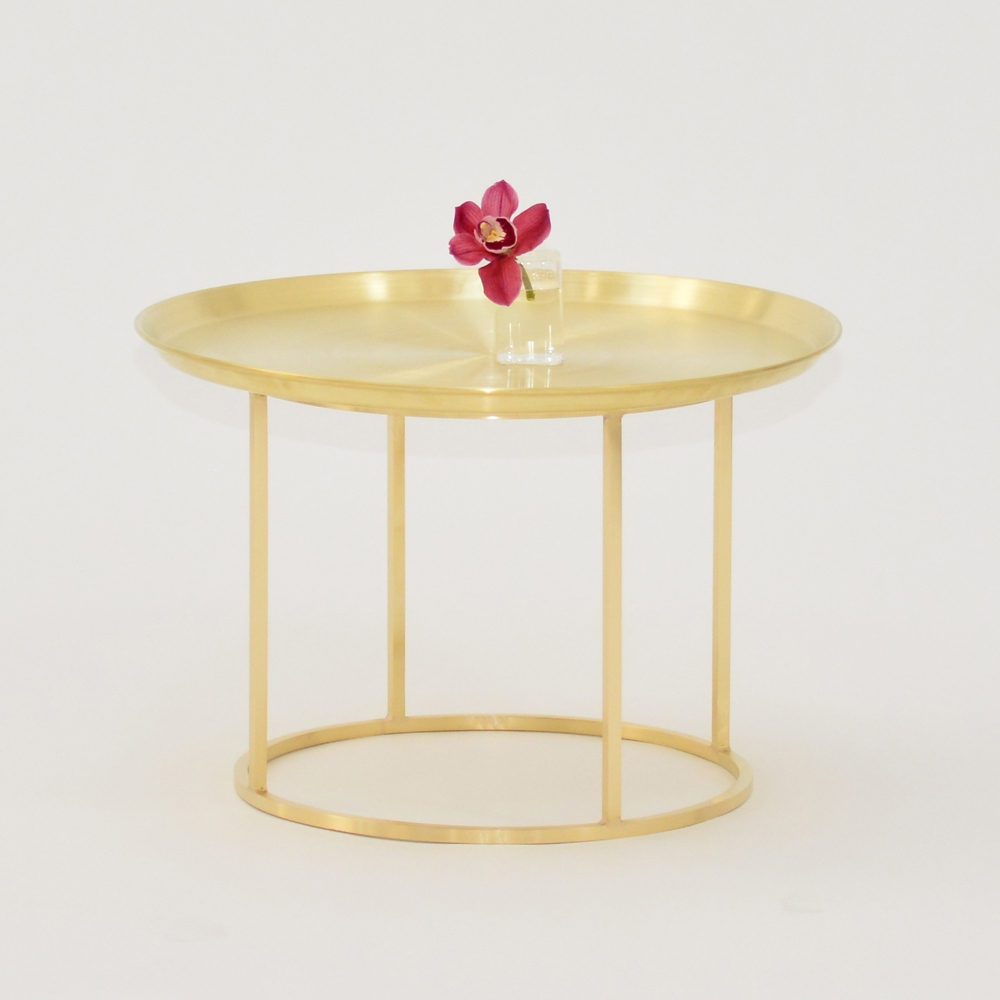 plateau coffee table brass