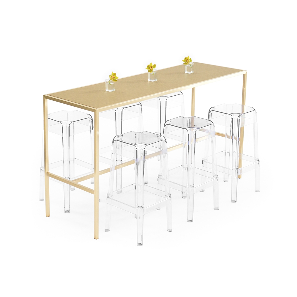 maxwell runner table - chilewich new gold